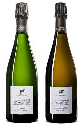 """Set Champagne Moussé Mix #2 """"Chardonnay vs Meunier""""   box ×2"""