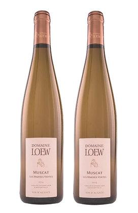 Domaine Loew, Muscat Les Marnes Vertes, AOC Alsace 2018 | box 2 Fl./Btls.