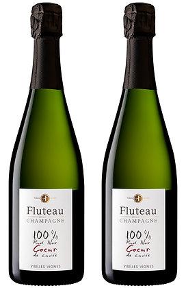 Champagne Fluteau, Coeur de Cuvée, Extra-Brut NV | box ×2