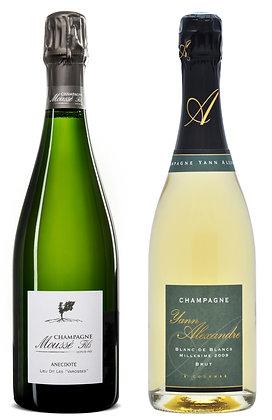 Set Champagne Blanc de Blancs Moussé & Yann Alexandre | box ×2