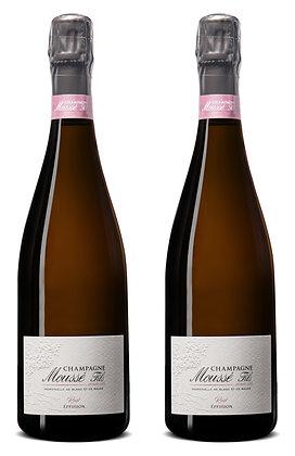 Champagne Moussé Fils, Rosé Effusion, Brut NV | box ×2