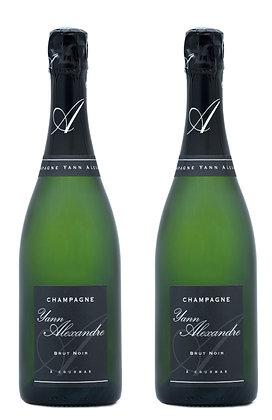 Champagne Yann Alexandre, Brut Noir   box ×2