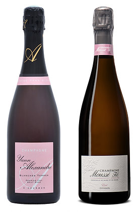 Set Champagne Rosé Moussé & Yann Alexandre   box ×2