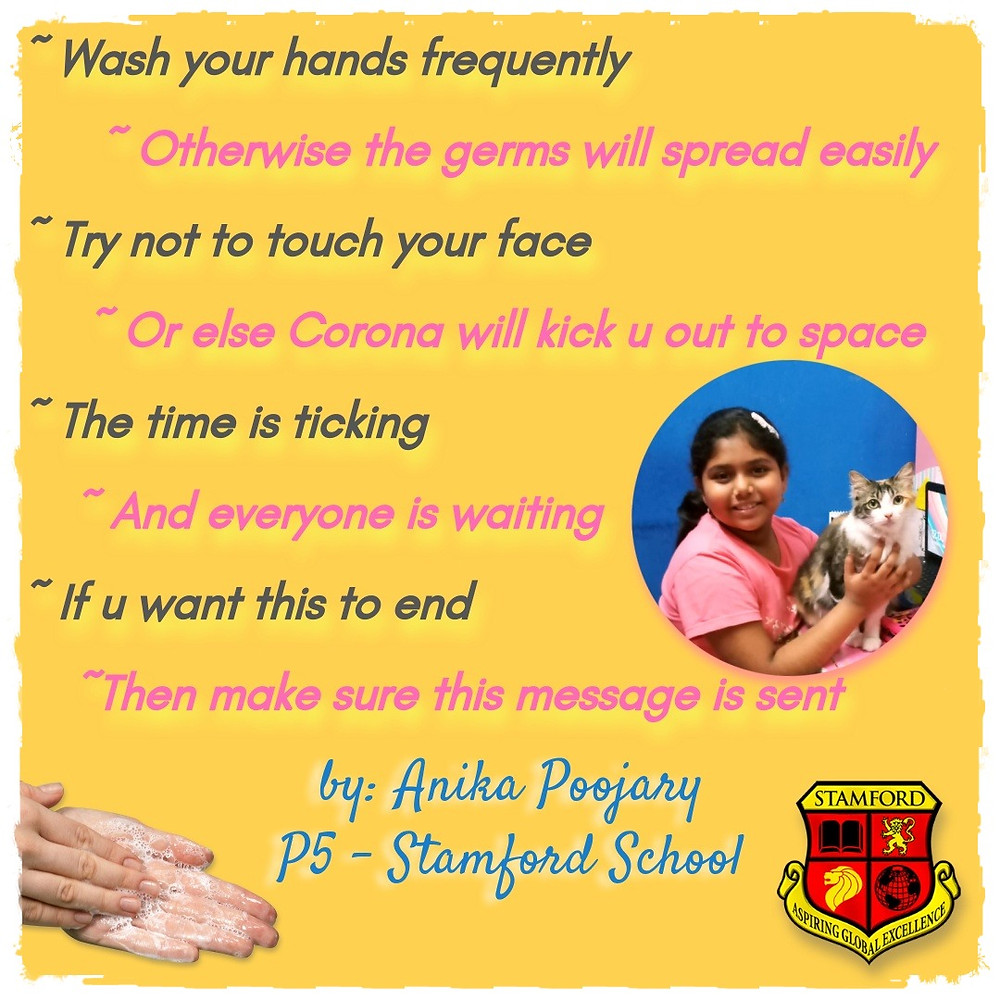 A Poem for our Times - by Anika Poojary - P5 Stamford School