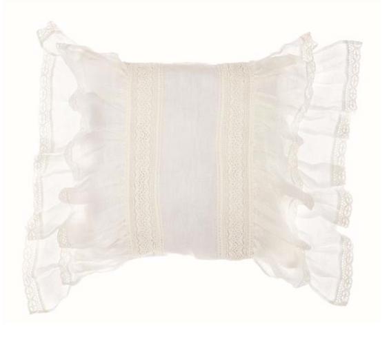 Cuscino con gale color avorio