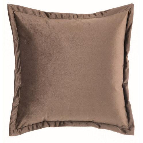 Tempera - Cuscino velluto marrone 45x45