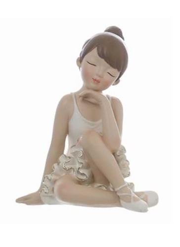 Romantic Ballet - Ballerina seduta bianca