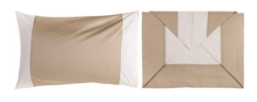 Federa Colorata - Completo letto matrimoniale beige