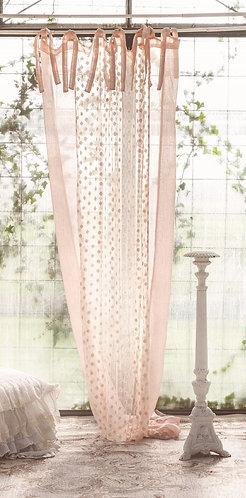 Melodramma - Tenda rosa con ricami 160x280