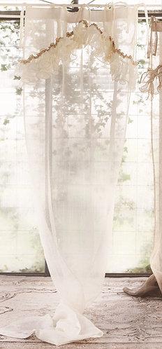 Ruffles - Tenda con rouches avorio 130x290