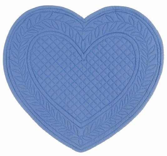 Carmen - Tovaglietta cuore azzurro 30x32
