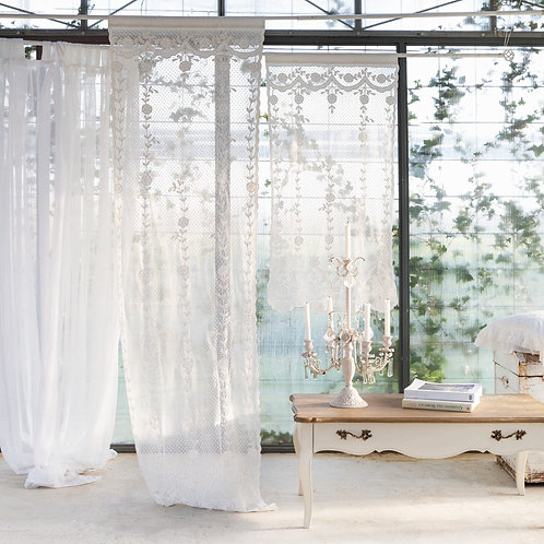 Ludmilla - Tenda finestra ricamata 60x220