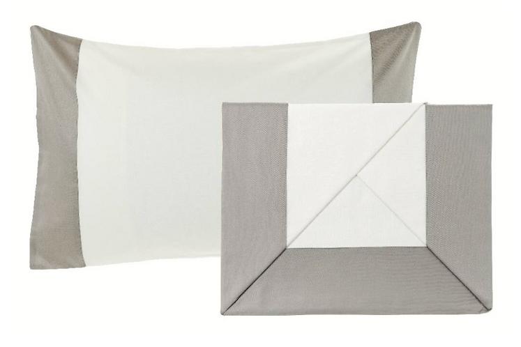 Balza Raso - Completo letto singolo balza grigia