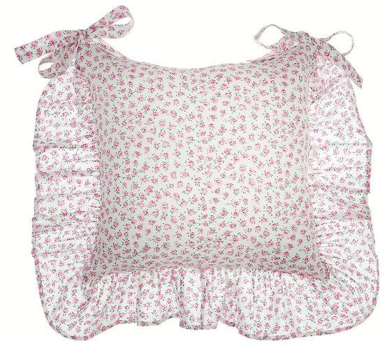 Nora - Copricuscino con gala rosa