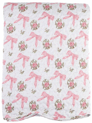Romanzo - Boutis matrimoniale fiocco rosa