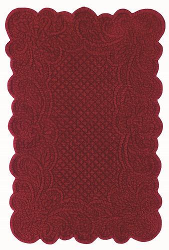 Velvet Heart - Tovaglietta rettangolare velluto Bordeaux