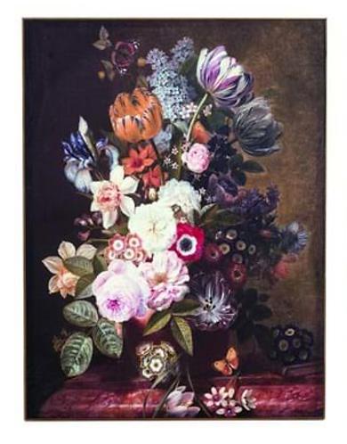 Quadri Blanc - Quadro vaso fiori cm. 61x81