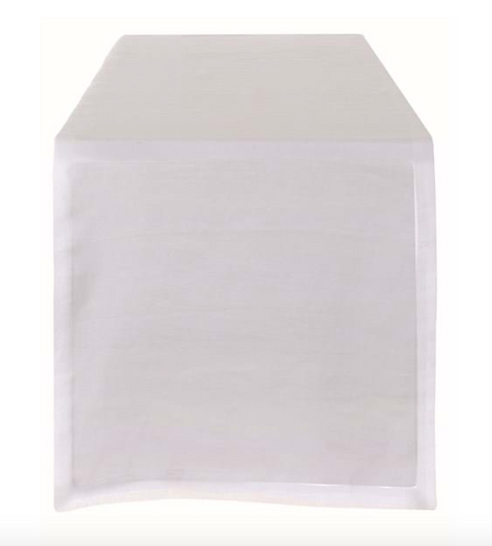Washed Linen - Runner bianco 40x140