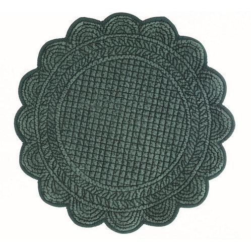 Carmen Velluto - Tovaglietta rotonda verde