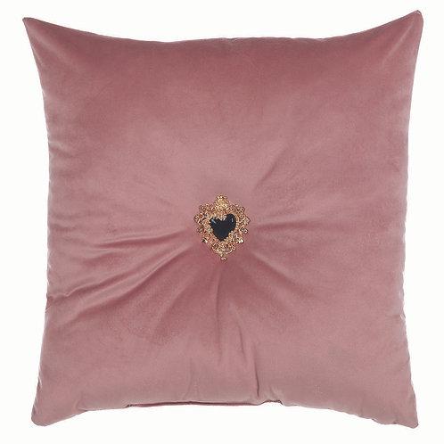 Milagros - Cuscino velluto rosa 45x45