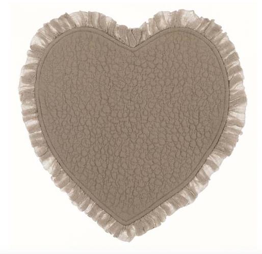 Tiepolo - Tovaglietta cuore ecrù
