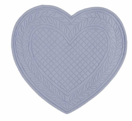 Carmen - Tovaglietta cuore celeste 30x32