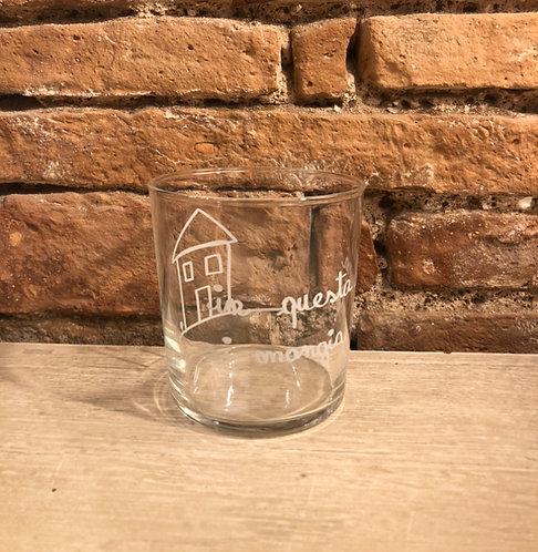 "Lovely - Set 6 bicchieri ""in questa casa si mangia bene"""