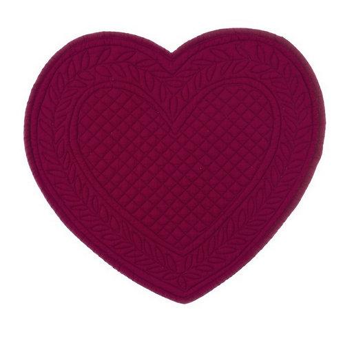 Carmen - Tovaglietta cuore bordeaux