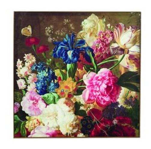 Quadri Blanc - Quadro fiori multicolor cm. 61x61