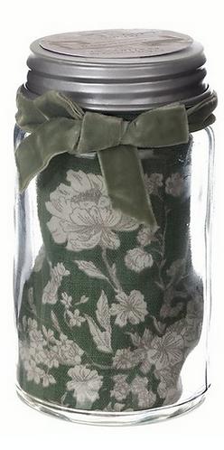 Lo Speziale - Barattolo con canovaccio floreale