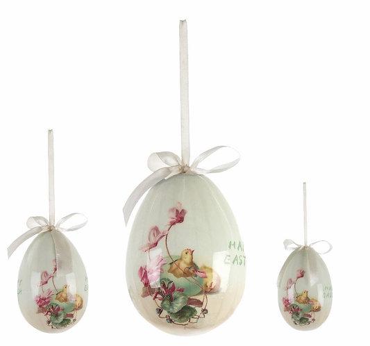 Easter Fantasy - Set 3 uova con pulcino