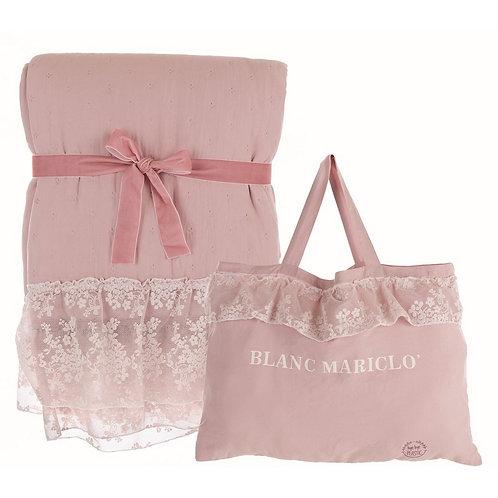 Romantic Lace - Boutis rosa matrimoniale con pizzo