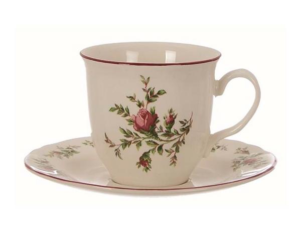 Moss Rose - Tazza tè con piattino