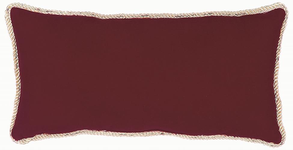 Happy Holiday - Cuscino velluto rosso 40x20