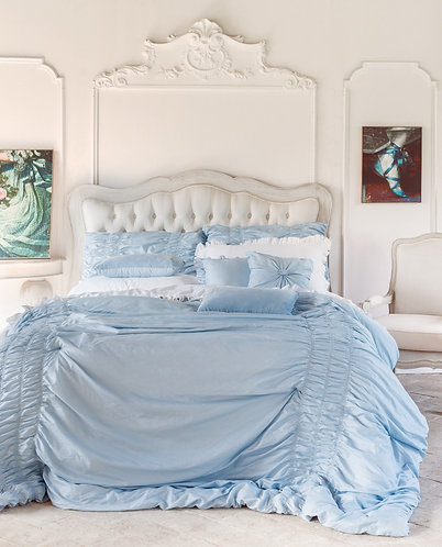 Dream celeste - Set trapunta e cuscini