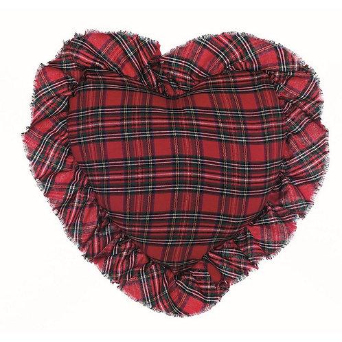 Vischio - Cuscino cuore tartan