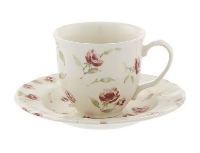 Floret Full - Tazza tè con piattino