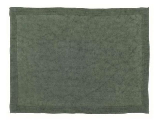 Washed Linen - Tovaglietta verde 45x35