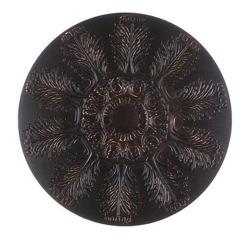 Concerto - Sottopiatto marrone vintage 32cm.