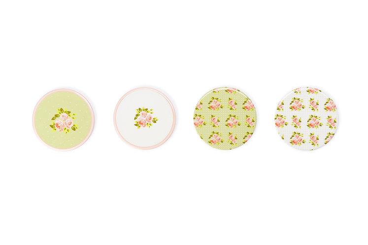 Margaret - Set 4 sottobicchieri porcellana