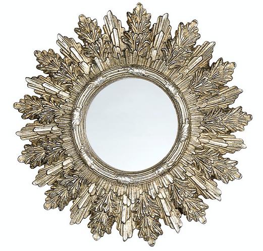 Dame e Roseti - Specchio cornice felce 22cm.