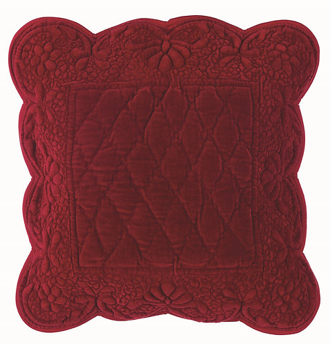 Velvet Heart - Cuscino 45x45 velluto Bordeaux