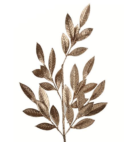 Riflessi Dorati - Ramo con foglie oro 78h
