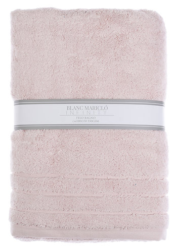 Infinity - Telo bagno rosa chiaro cm.100x150