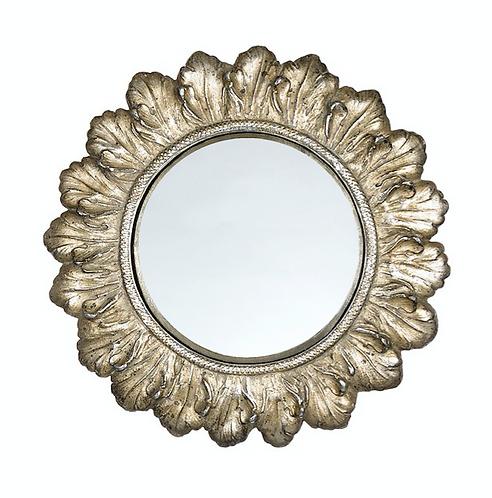 Dame e Roseti - Specchio cornice foglie 22cm.