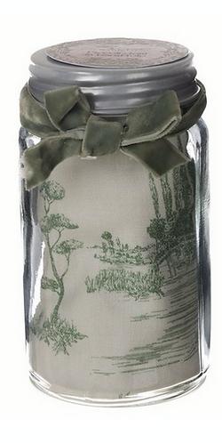 Lo Speziale - Barattolo con canovaccio toile de jouy
