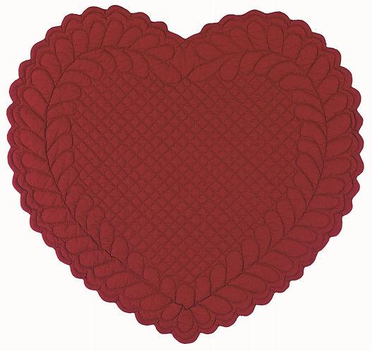 Amore - Tovaglietta cuore rossa