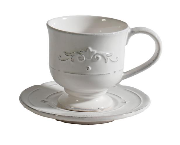 Convito - Tazza tè con piattino artigianale