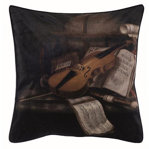 Velluto Stampato - Cuscino con violino