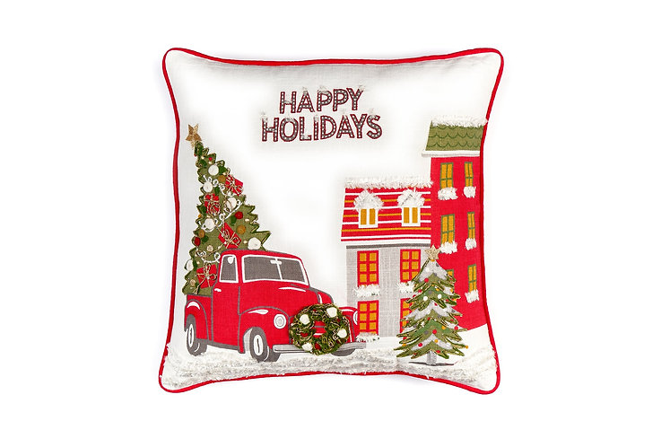 Christmas - Cuscino Happy Holidays 45x45